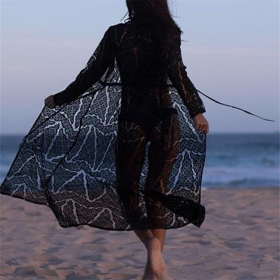 Sexy Playa Cubierta Hasta Crochet Encaje Rosa Traje De Baño