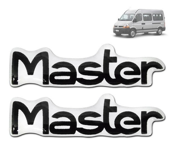 Par Emblema Adesivo Master Resinado Para Estribo 7 X 2 Cm