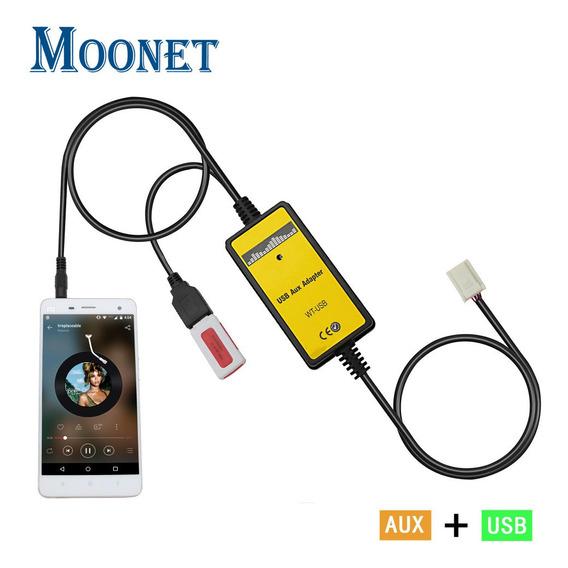 Moonet Carro Mp3 Usb Aux Adaptador 3,5 Milímetros Aux Interf