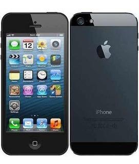 iPhone 5 Preto Com Leve E Pequena Rachadura