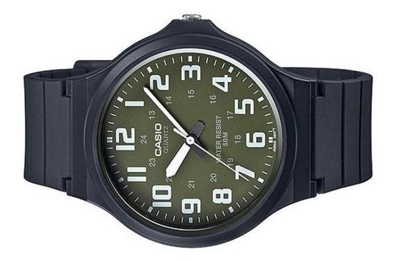 Relógio Casio Masculino 50 Metros Emborrachado Mw-240-3bvdf