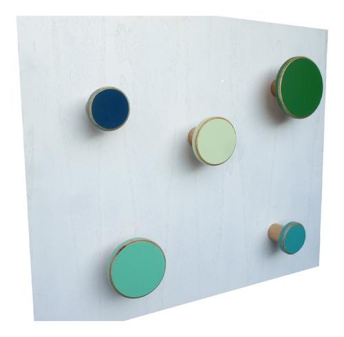 Percheros Dot Colores Varios Pack X5 Microcentro Y Palermo