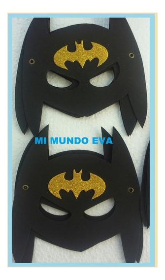 Mascara Y Brazalete Batman En Goma Eva!! X10 Unidades