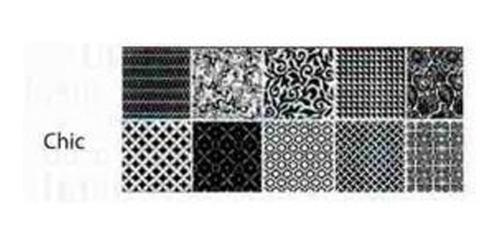 Imagen 1 de 10 de Ceramica Acuarela Trendy Negro Chic 20x50 1era (x Pieza) Sp
