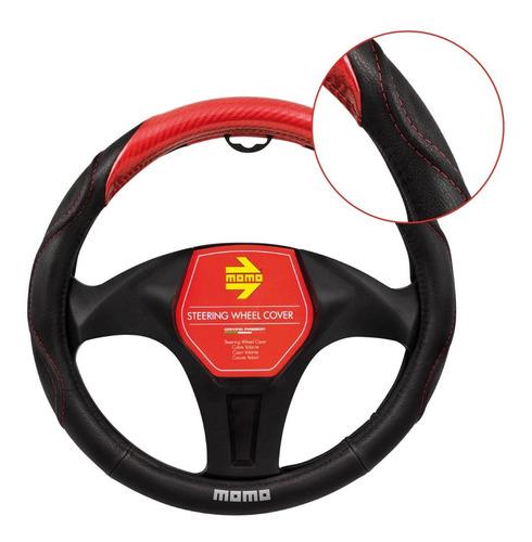 Momo Cubre Volante De Cuero Black/red - Swcl020br