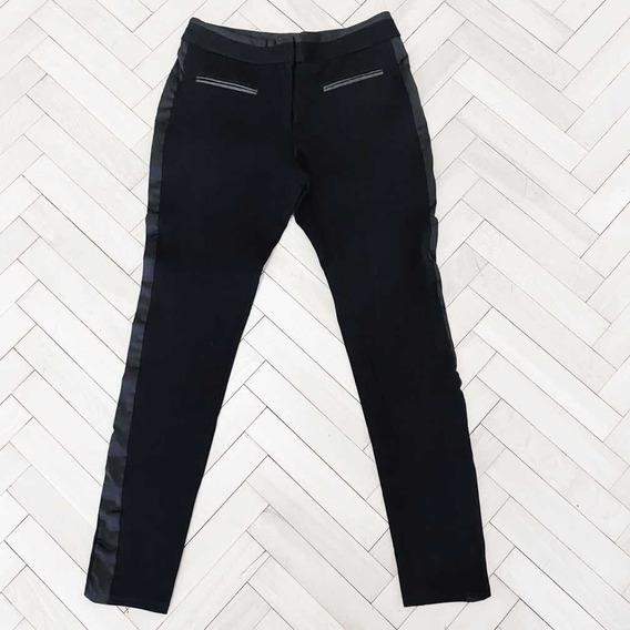 Pantalón Vitamina Negro De Vestir Elastizado 40 Impecable