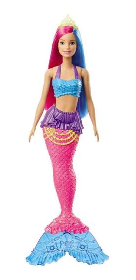 Barbie Dreamtopia Sereia Cabelo Azul E Rosa Gjk08 - Mattel