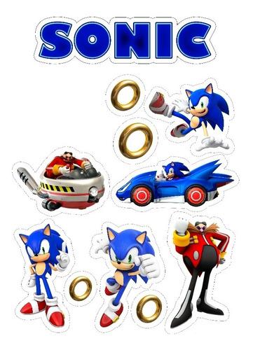 Topo De Bolo Do Sonic