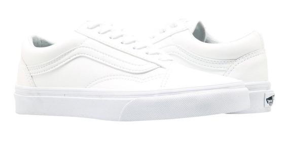 Tenis Vans Old Skool Blanco Classic Tumble 100% Original