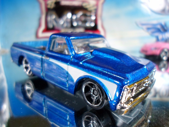 Hot Wheels 67 Chevy C10 Pickup Azul 143/2016 Lacrada