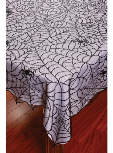 Imagen 1 de 3 de Mantel Halloween Telaraña