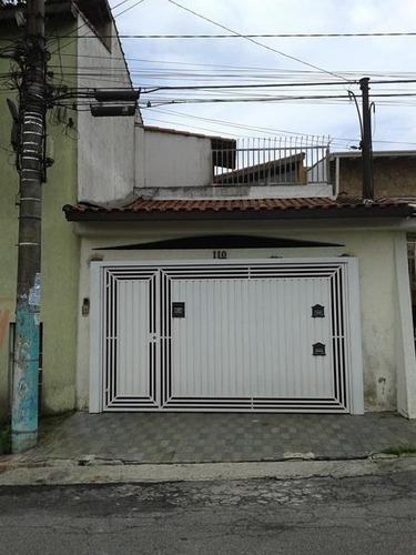 Imagem 1 de 15 de Sobrado À Venda, 3 Quartos, 2 Vagas, Luzita - Santo André/sp - 34962
