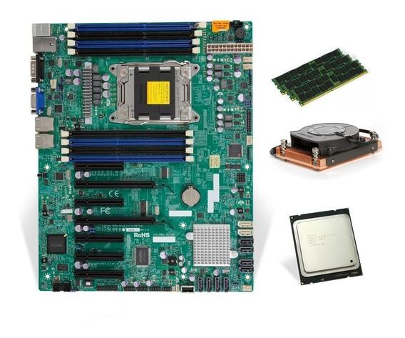 Kit Placa Mae Lga2011 Xeon + E5-2680 V2 Até 3.6ghz 64gb Mem