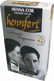 Henna Hennfort Em Pó 65g - Preto