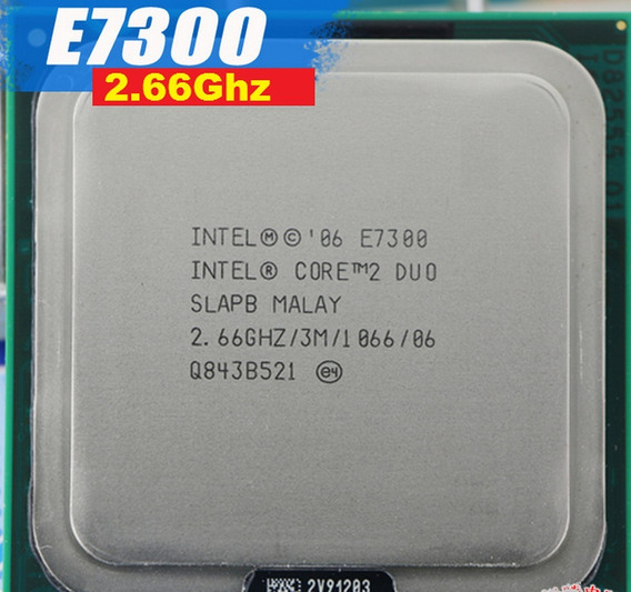 Processador Core 2 Duo E7300 3m Cache 2.66 Ghz 1066 Mhz 775