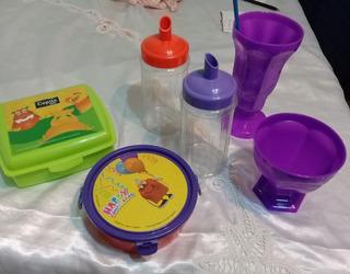 Taper X 2 Con Frasco Con Pico X 2 Mas 2 Copas Plasticos