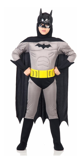 Disfraz Batman Con Musculos Liga Justicia Orig. Sulamericana