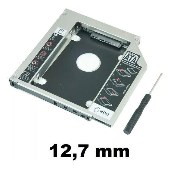 Case Caddy Hd Ssd Sata Adaptador Gaveta Dvd Notebook 12,7mm