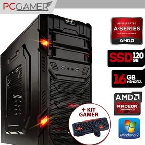 Pc Gamer Amd 16gb Hd 8470d Ssd 120gb W7 +kit Gamer