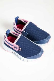 Tênis Infantil Menina Klin Baby Jump 244 Azul