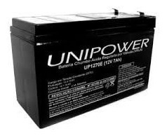 Bateria Unipower 12v 7a 10und