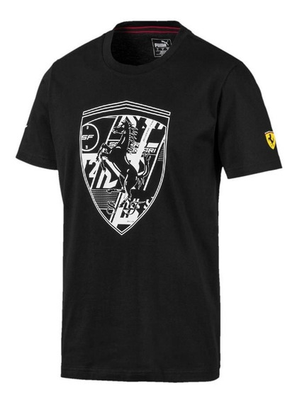 Playera Puma Sf Big Shield Tee + Negro Hombre 830554