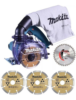 Serra Marmore 4.3/8 1450w C/coletor 4100kb Makita +4 Discos