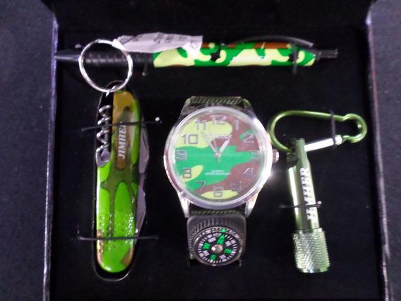 Reloj Caballero Kit Paquete Con 5 Estuches