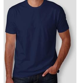 Kit C/ 22 Camisetas Azul Marinho 100% Poliéster C/ Listra