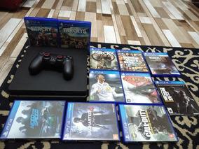 Playstation 4 Slim, 500 Gb. + 11 Jogos Originais !