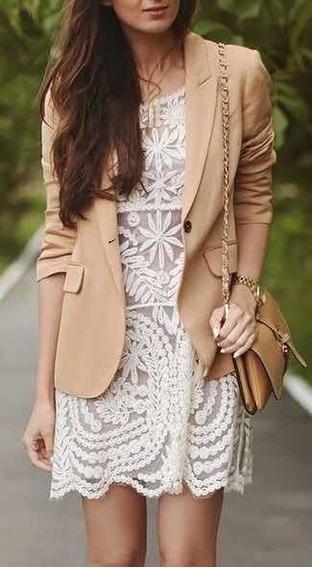 Vestido Importado Bordado Tul Transparente Natural Beige