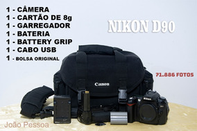 Câmera Nikon D90 - Com Battery Grip