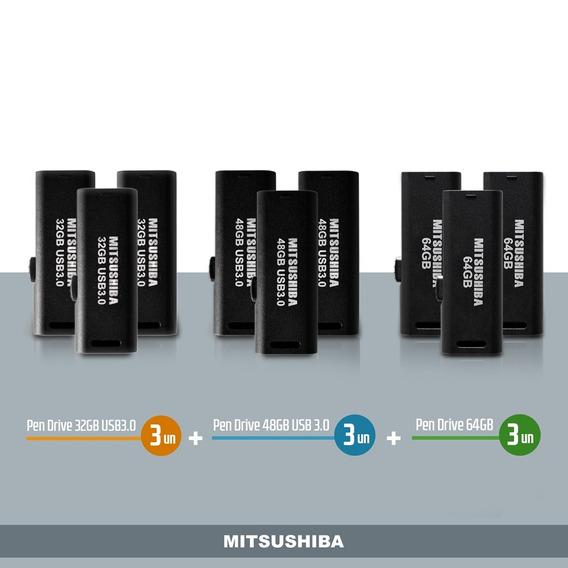 Kit Pen Drive 32g(usb 3.0) 3pcs+ 48g(usb 3.0) 3pcs+ 64g 3pc