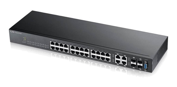 Switch Zyxel Gs2210-24 24 Portas + 4 Sfp L2 Gerenciável Full