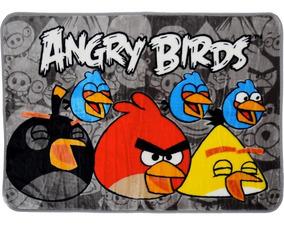 Tapete Kids Infantil Angry Birds 0,80m X 1,20m Beira De Cama