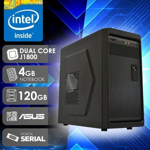 Computador Desktop Asus Dual Core 4gb De Ram Ssd 120gb W10