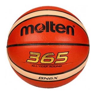 Balón Basquetbol Baloncesto #6 12 Paneles En Cuero Pu Molten