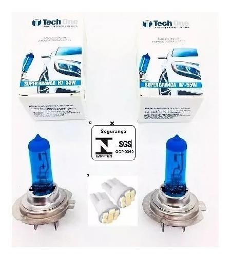 Kit Par Lampada Super Branca Tipo Xenon 8500k H7 55w 12v
