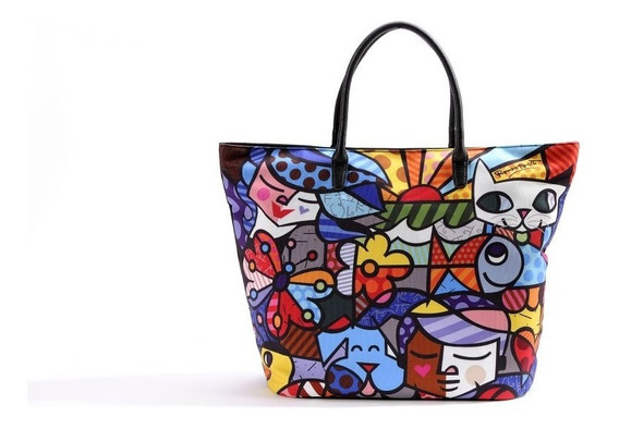 Bolsa Romero Britto Design Tecido 51cm Trevisan Concept