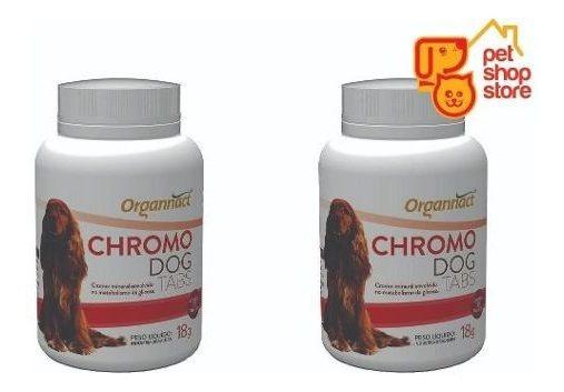 2 X Chromo Dog Tabs Cromo 18g Organnact 18 G Pet Shop Store