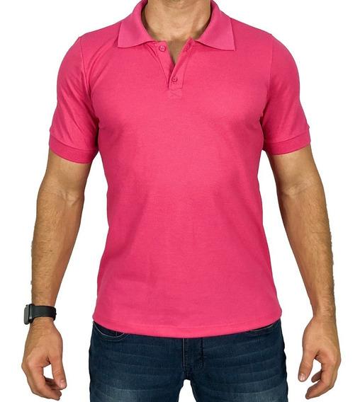 Camisa Camiseta Gola Polo Lisa Super Confortável Escaping
