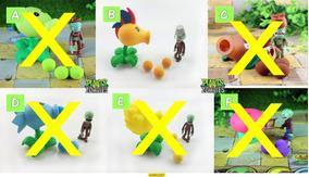 Kit 4 Brinquedos Plants Vs Zombies Peashooter Livre Escolha