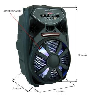 Bocina Mediana Con Microfono Radio Bluetooth / Soy Tienda