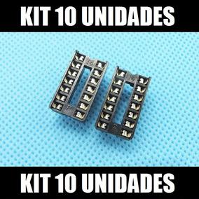 Kit 10 Peças Socket / Soquete Dip14 Pinos Para Cis Attiny85