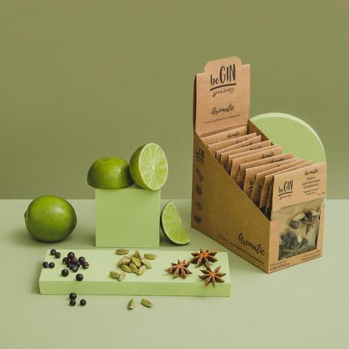 Box De Especiarias P/ Gin Tônica - Aromatic (12 Sachês)