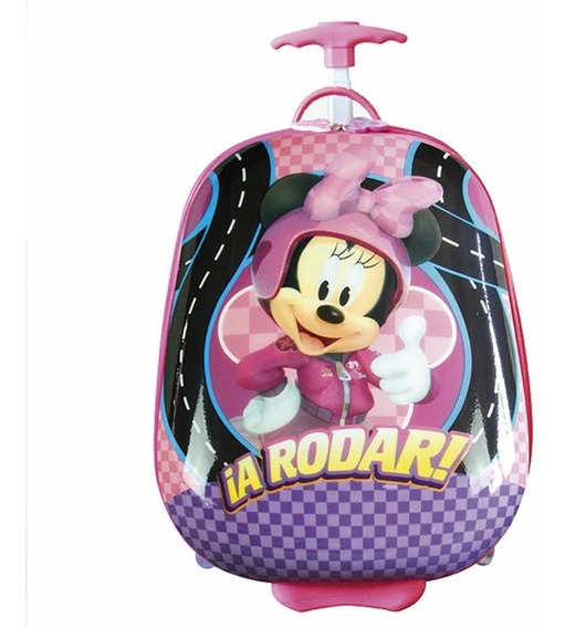 Mochila Minnie 16 Valija Carrito Disney Cresko Casa Valente
