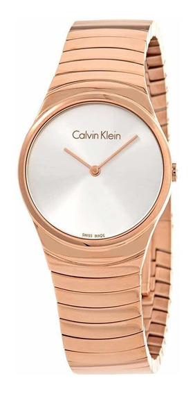 Reloj Calvin Klein K8a23646 Mujer Original Swiss Made Rose
