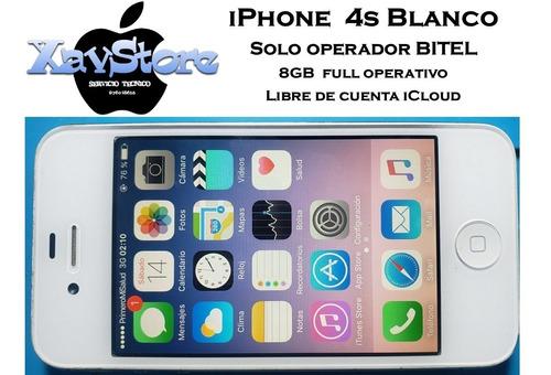 iPhone 4s 8gb Blanco Bitel