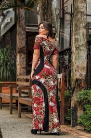 Vestido Longo Estampado Dress Evangélico Gospel Top Diva