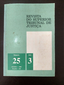 Revista Do Superior Tribunal De Justiça N° 25,ano 3 (cod.04)